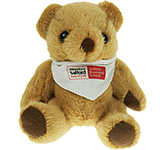 13cm Jointed Honey Bear With Bandana