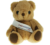 13cm Jointed Honey Bear With Ribbon Sash