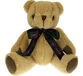 20cm Jointed Honey Bear With Bow