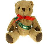 20cm Jointed Honey Bear With Ribbon Sash