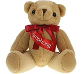 25cm Jointed Honey Bear With Ribbon Sash