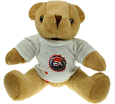 25cm Jointed Honey Bear With T-Shirt