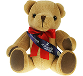 30cm Jointed Honey Bear With Ribbon Sash