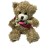 12cm Paw Bear With Ribbon Sash