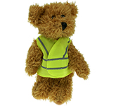 15cm Sparkie Bear With Hi Vis Jacket