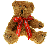 20cm Sparkie Bear With Bow