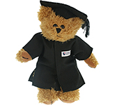 20cm Sparkie Bear With Graduation Cap & Gown