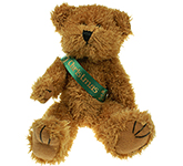 20cm Sparkie Bear With Ribbon Sash
