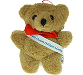 10cm Tiny Honey Bear With Ribbon Sash