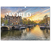 World In View Wall Calendar