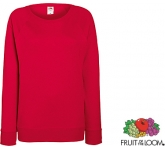 Fruit Of The Loom Lady-Fit Lightweight Raglan Sweatshirt