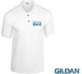 Gildan DryBlend Jersey Knit Polo Shirts - White