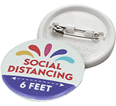 37mm Social Distancing Recylced Buttom Badge