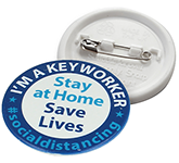 55mm Key Worker Recylced Badge