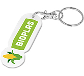 Bio Plastic Oblong Trolley Stick Keyring