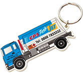 Lorry Shaped Eco Plastic Keyring
