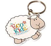 Sheep Shaped Plastic Eco Keyring