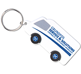 Van Shaped Plastic Recycled Keyring