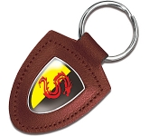 Knightsbridge Expoy Domed Leather Keyring