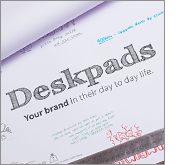 Attention grabbing desk pads for repeat brand exposure!