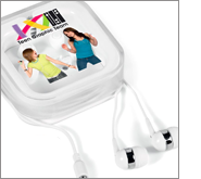 Extensive printing and branding options on all our earphones