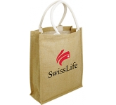 Dundee Branded Natural Jute Bag
