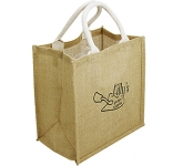 Taunton Branded Natural Jute Bag
