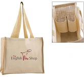 Wrexham Combo Bottle Jute Bag