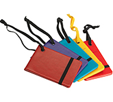 Oxford PU Notebook Style Luggage Tag