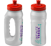 Marathon 500ml Jogger Sports Bottle Clear - Push Pull Cap