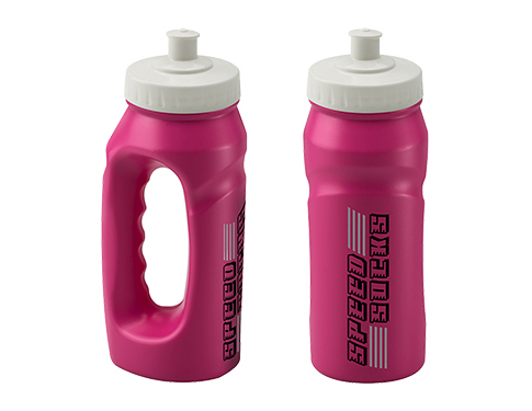 Marathon 500ml Jogger Sports Bottle Pink - Push Pull Cap
