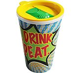 ColourBrite Universal 350ml Take Away Mug - Slip & Slide Lid