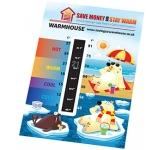 Large Temperature Gauge Card