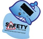 Whale Bath Water Temperature Gauge Card