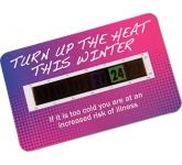Credit Card Temperature Gauge Card