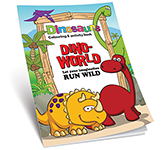 A5 Activity Colouring Book - Dinosaur