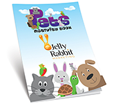 A4 Activity Colouring Book - Pets