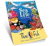 A4 Activity Colouring Book - Sea Life