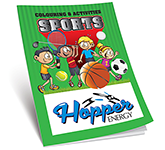 A4 Activity Colouring Book - Sports