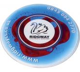 Round Liquid Aqua Coaster
