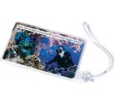 Liquid Aqua Luggage Tag
