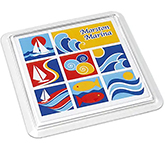 Clear Square Acrylic Insert Coaster