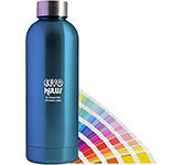 Eevo 500ml Metallic Pantone ColourTint Metal Water Bottle