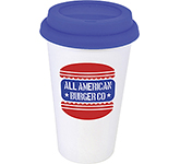 Coffee Shop 350ml Plastic Take Away Mug