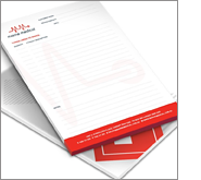 Increase brand recognition in the home and office with printed writing pads