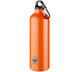 Denver 770ml Carabiner Aluminium Water Bottle