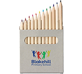 Wellington 12 Piece Mini Colouring Pencil Set