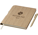 Oak A5 Hard Cover Notebook With Pen