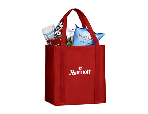 Jersey Non-Woven Bottom Board Grocery Tote Bag