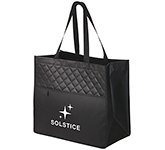 Cross Quilted Laminated Shopper